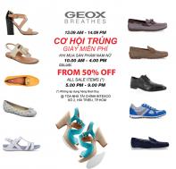Khuyến mãi Geox cơ hội trúng giày miễn phí trong tháng 9-2014   Tin Khuyen Mai