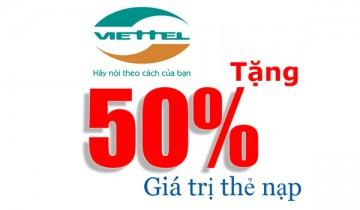Viettel Khuyến Mại 50% Tháng 2 Năm 2016 | Tin Khuyen Mai
