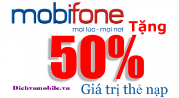 Mobifone khuyến mãi 50% thẻ nạp ngày 03/02/2016 | Tin Khuyen Mai
