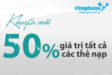 Khuyến mãi Vinaphone tặng 50% thẻ nạp ngày 26/02/2016 | Tin Khuyen Mai