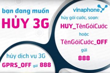 Cách hủy 3G Vinaphone nhanh nhất 2016 | Tin Khuyen Mai
