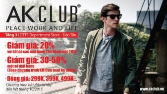 Khuyến mãi 2015 AK Club giảm giá 20% tại Lotte Department Store | Tin Khuyen Mai