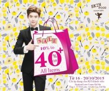 Khuyến mãi 2015 Lotte Department Store giảm giá đến 40% tại quầy hàng Skin Food | Tin Khuyen Mai