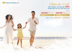 Vietnam Airlines giảm giá đến 30% vé máy bay nội địa, quốc tế | Tin Khuyen Mai