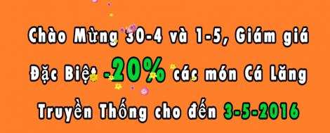 Khu Sinh Thái Nam Hồng giảm giá 20% nhân dịp 30-4 và 1-5 | Tin Khuyen Mai