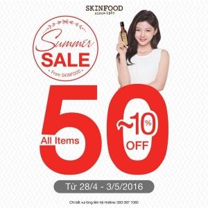 SkinFood giảm giá 50% mừng 30-4 và 1-5 | Tin Khuyen Mai