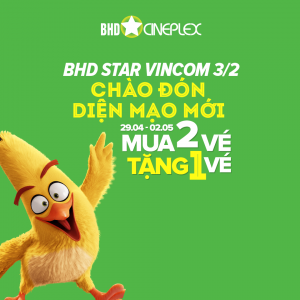 BHD Star tặng ngay 01 voucher để đổi vé xem phim 2D | Tin Khuyen Mai