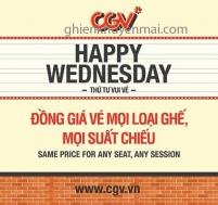 CGV Cinemas thứ 4 vui vẻ xem phim giá rẻ chỉ 50k | Tin Khuyen Mai
