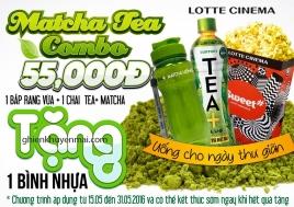 Lotte Cinema tặng kèm 1 bình nhựa Matcha Tea+ | Tin Khuyen Mai
