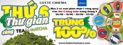 Lotte Cinema quay may mắn trúng 100% khi mua 2 vé xem phim | Tin Khuyen Mai