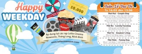 Lotte Cinema Happy Week quà tặng hấp dẫn | Tin Khuyen Mai