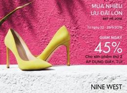Thời trang Nine West giảm giá 45% trong tháng 5-2016   Tin Khuyen Mai