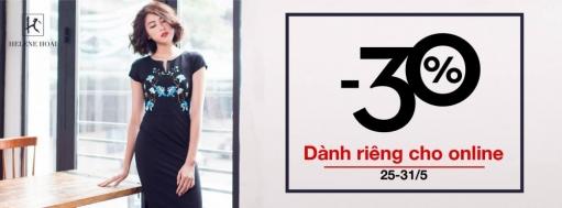 Thời trang Helene Hoài giảm giá 30% trong tháng 5-2016   Tin Khuyen Mai