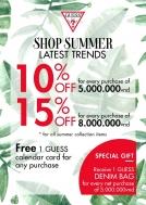 Guess Parkson giảm giá lên tới 15% hóa đơn mua sắm suốt hè | Tin Khuyen Mai
