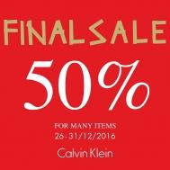 Khuyến mãi 2016 thời trang Calvin Klein giảm giá 50% mừng năm 2017 | Tin Khuyen Mai