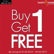 Khuyến mãi 2017 nhà hàng Daddy Paris mua 1 tặng 1 trong tháng 2-2017 | Tin Khuyen Mai