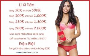 Khuyến mãi 2017 thời trang Wannabe nhận lì xì giá trị đến hơn 500K | Tin Khuyen Mai