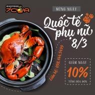Nhà hàng 7CUA giảm giá 10% nhân dịp 8-3-2017 | Tin Khuyen Mai